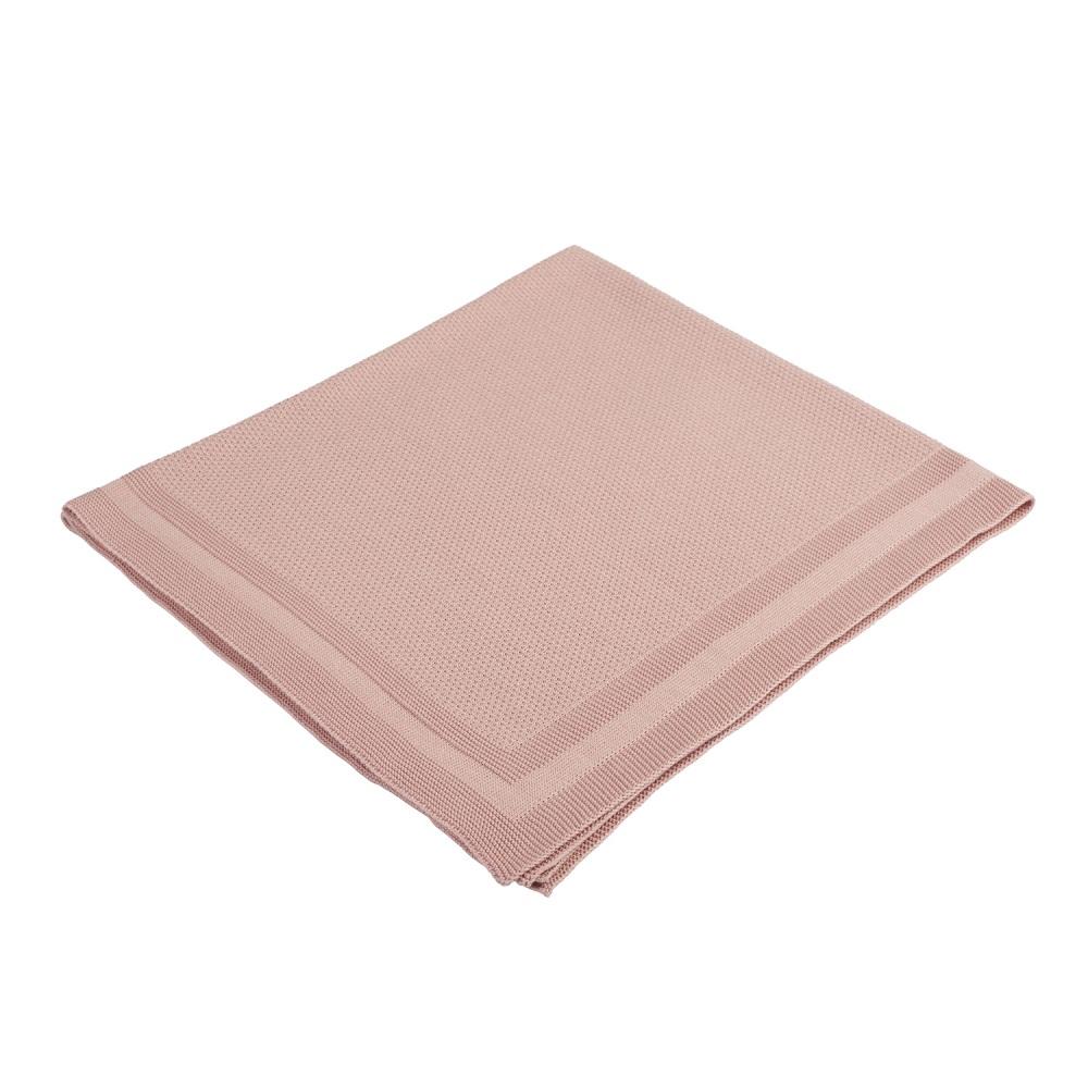 Babydecke Strick PLAID - rosa