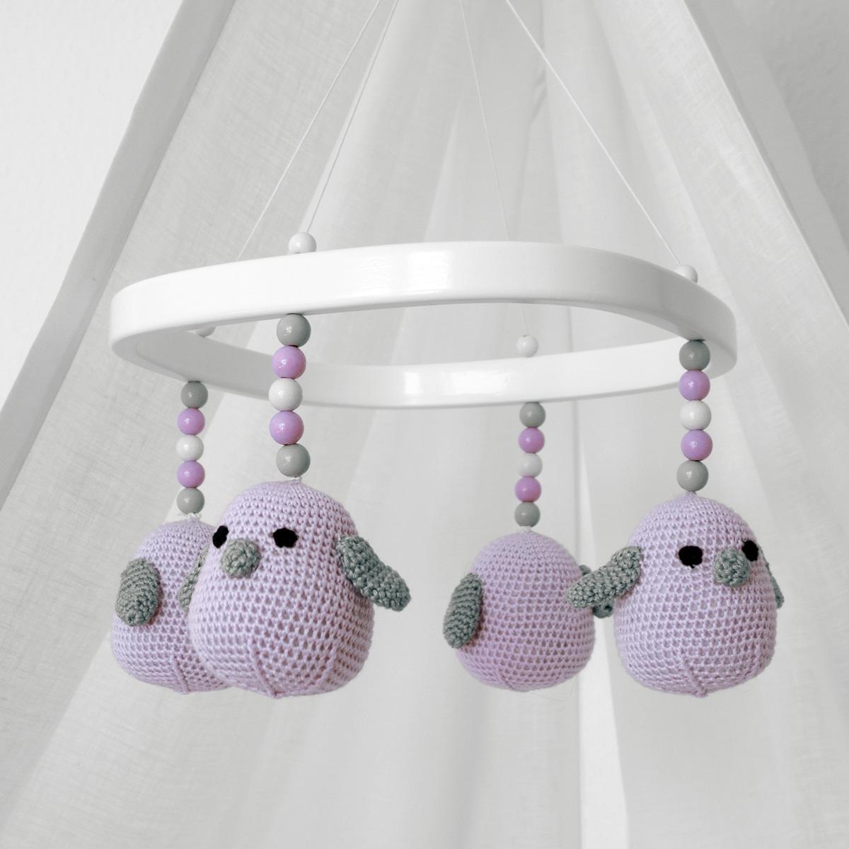 TWEETO Baby Mobile - Vögel - flieder