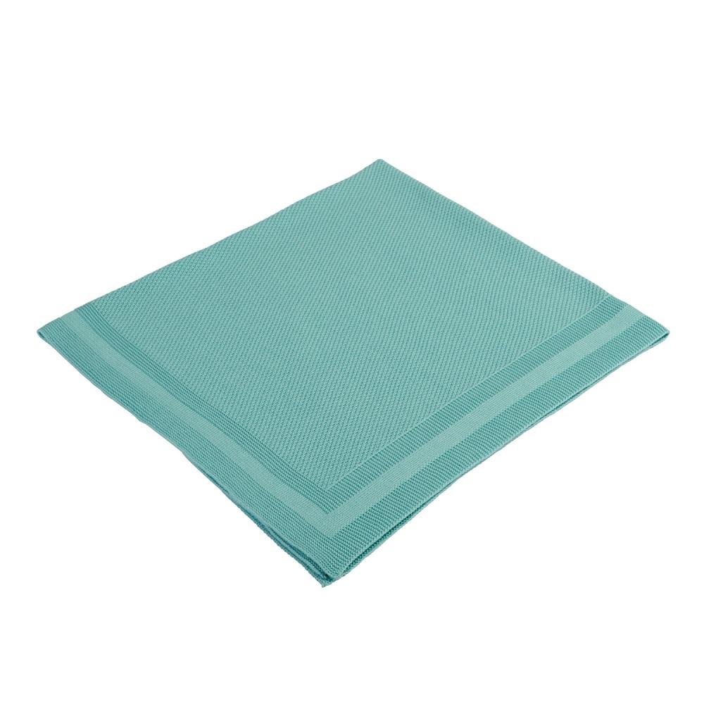 Babydecke Strick PLAID - mint