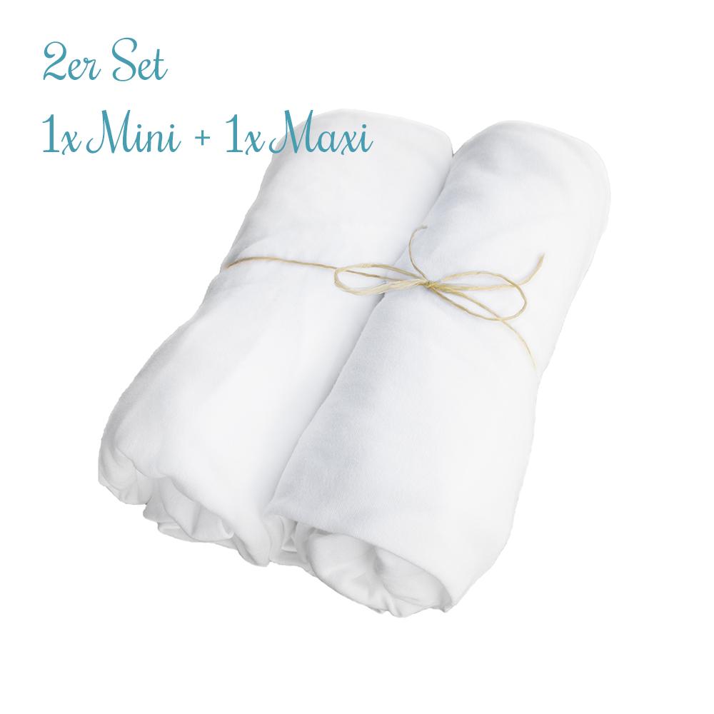 2er SET Spannbettlaken - MINI + MAXI