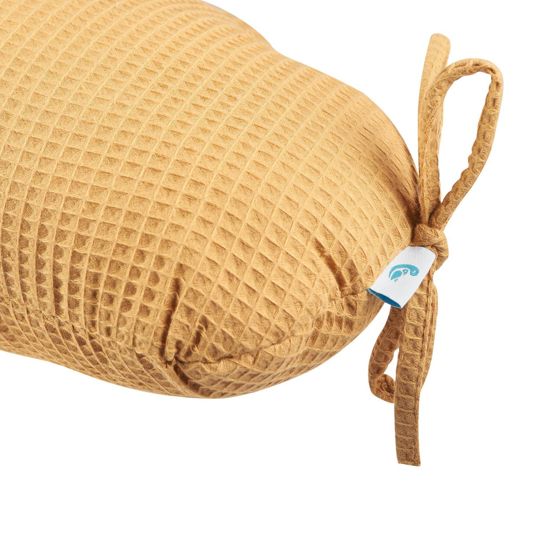 Nestchen-Kissen Waffelpiqué - senfgelb