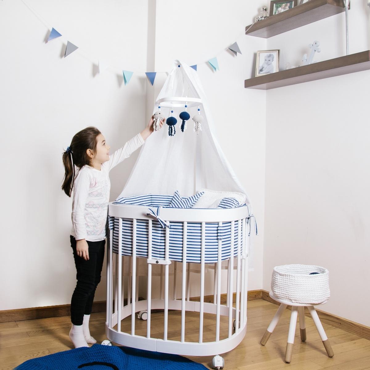 TWEETO Baby Mobile - Quallen - blau/weiss